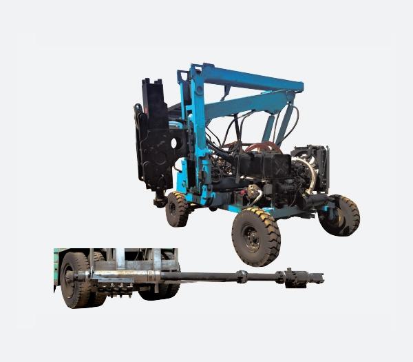 液压驱动多功能打桩机